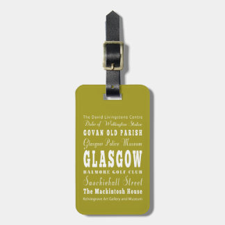 Unique Glasgow, Scotland Gift Idea Travel Bag Tags