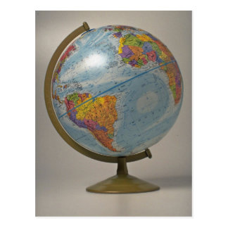 Unique Globe Postcard