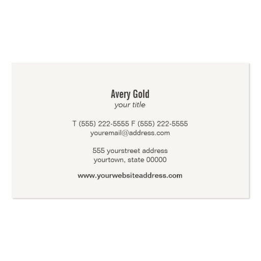 Unique Gold Circle Wood Modern Business Card (back side)