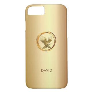 Unique Gold Eagle Custom Name iPhone 7 case