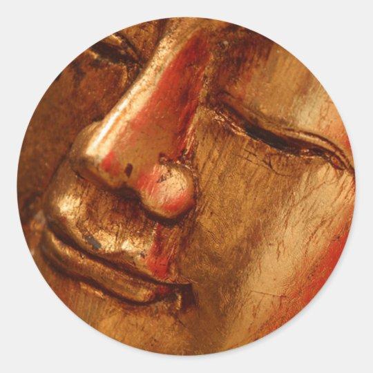 Unique Golden Buddha Designs Classic Round Sticker