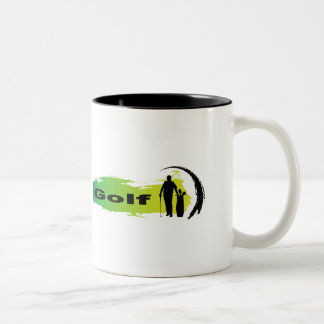 Unique Golf Two-Tone Coffee Mug