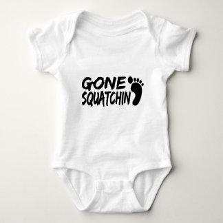 Unique GONE SQUATCHIN logo with FOOTPRINT Baby Bodysuit