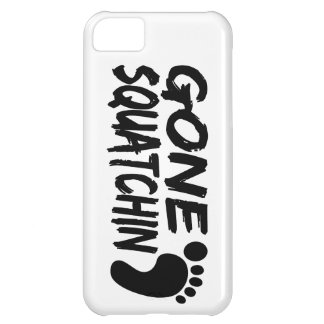 Unique GONE SQUATCHIN logo with FOOTPRINT iPhone 5C Cover