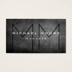 Unique Gray Chalkboard Monogram Business Card at Zazzle