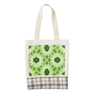 unique green abstract pattern zazzle HEART tote bag