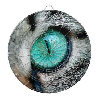 Unique Green cat's eye close up Dart Board