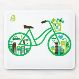 unique green  Low-carbon Life mousepads