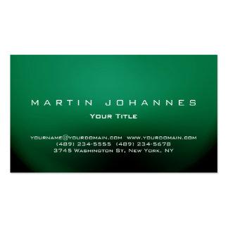Unique green plain professional business card