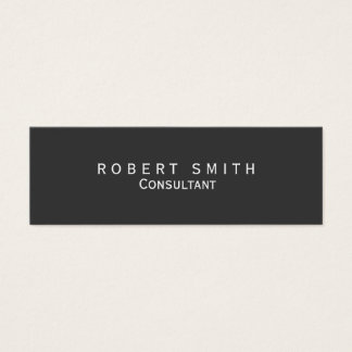Unique Grey Consultant Skinny Business Card