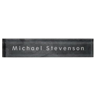 Unique Grey Elegant Modern Minimalist Design Name Plate