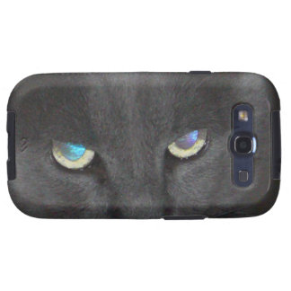 Unique Grey Kitty Cat w/ Colored Eyes Samsung Galaxy S3 Case