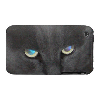 Unique Grey Kitty Cat w/ Colored Eyes iPhone 3 Cover