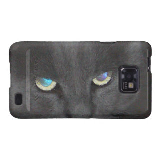 Unique Grey Kitty Cat w/ Colored Eyes Galaxy SII Cases