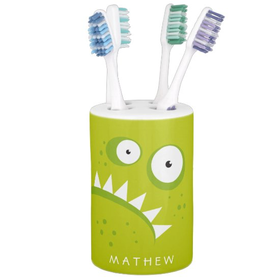 Unique Grumpy Angry Funny Scary Green Monster Bath Set