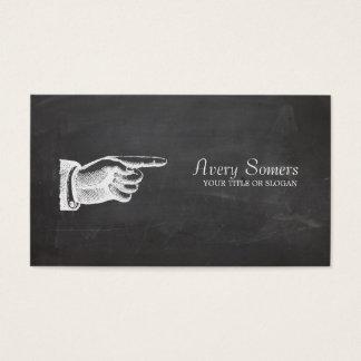 Unique Grunge Style Vintage Black Business Business Card