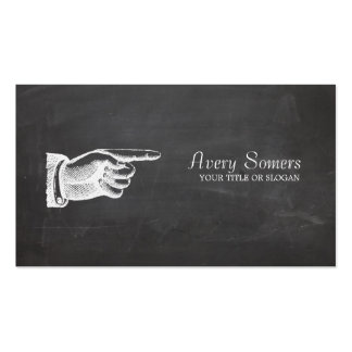 Unique Grunge Style Vintage Black Business Double-Sided Standard Business Cards (Pack Of 100)