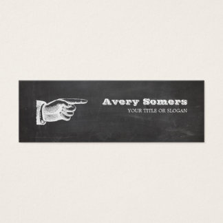 Unique Grunge Style Vintage Small Black Business 1 Mini Business Card