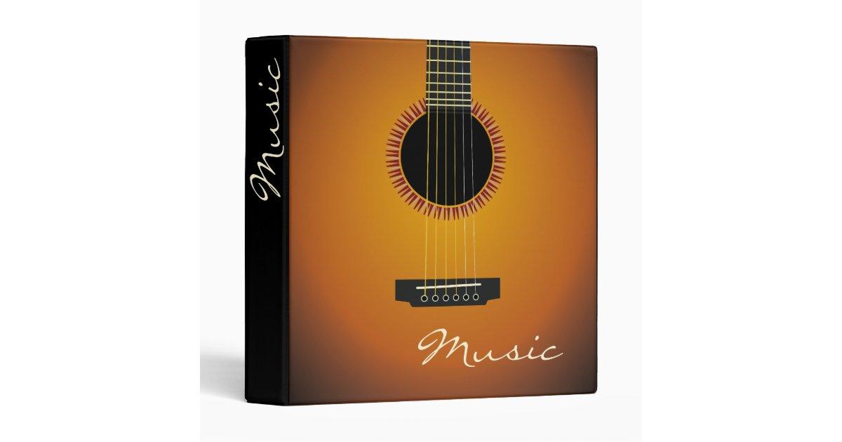 unique guitar 3 ring binder zazzle