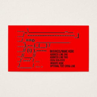 Unique Gun Graphic Business Card