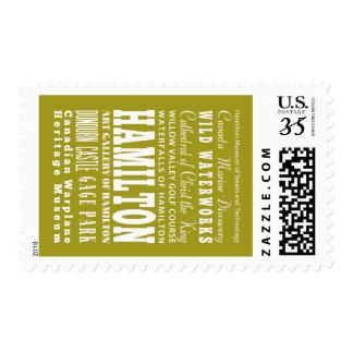 Unique Hamilton, Ontario Gift Idea Stamp