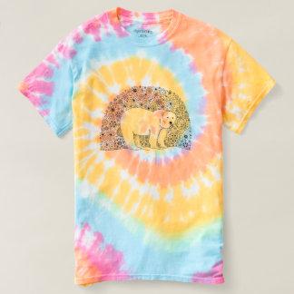 Unique Hand Illustrated Artsy Floral Polar Bear T-shirt