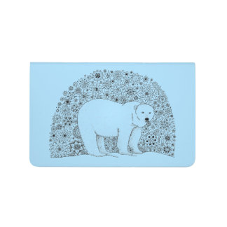 Unique Hand Illustrated Artsy Polar Bear Journal