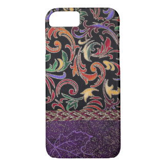 Unique hand sewn fabric art for iPhone 7 case