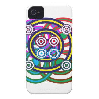Unique Happy Smiley Line Graphic Art iPhone 4 Case-Mate Case