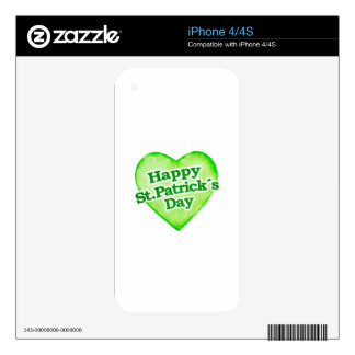 Unique Happy St. Patrick´s Day Design Decal For The iPhone 4S