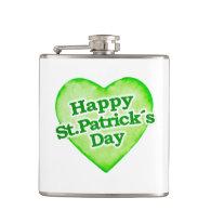 Unique Happy St. Patrick´s Day Design Hip Flasks