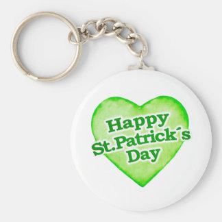 Unique Happy St. Patrick´s Day Design Keychains