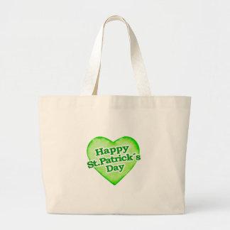 Unique Happy St. Patrick´s Day Design Large Tote Bag