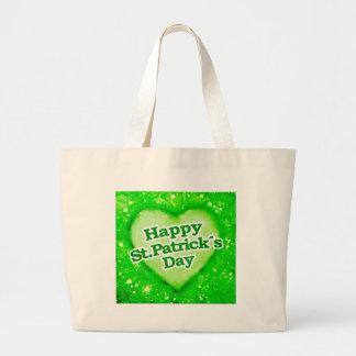 Unique Happy St Patrick´s Day Design Large Tote Bag