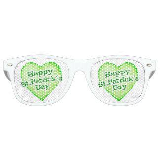 Unique Happy St. Patrick´s Day Design Retro Sunglasses