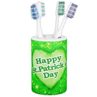 Unique Happy St. Patrick´s Day Design Soap Dispenser & Toothbrush Holder