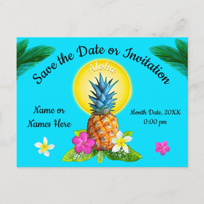 Unique Hawaiian Save The Date Cards