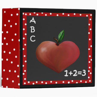 Unique Heart Apple Teacher's Binder