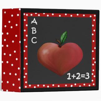 Unique Heart Apple Teacher's Binder