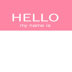 hello my name is gifts on zazzle