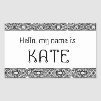 Unique Hello my name is - name tags stickers