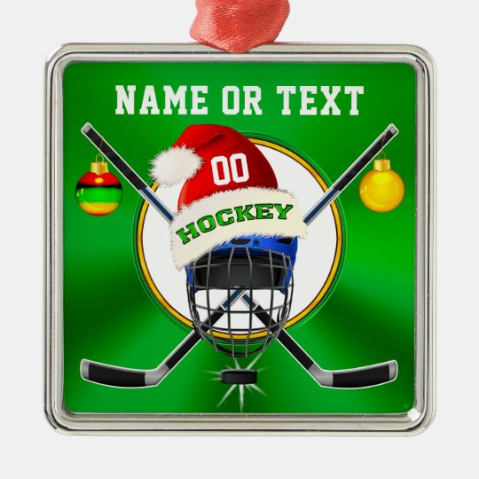 unique hockey christmas ornaments personalized metal ornament - Hockey Christmas Ornaments