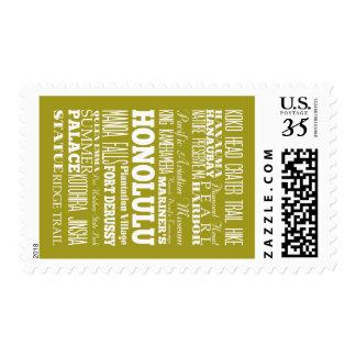 Unique Honolulu, Hawaii Gift Idea Postage Stamps