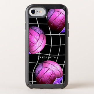 unique hot pink purple chic women's volleyball speck iPhone case