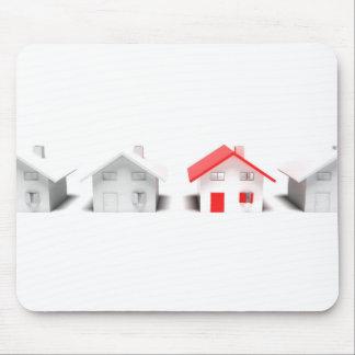 Unique house concept mouse pad