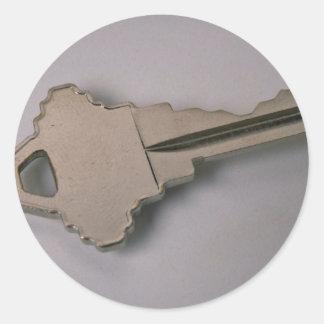 Unique House key Classic Round Sticker