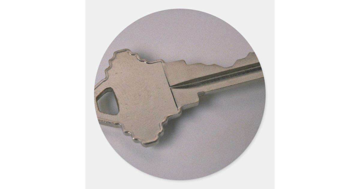 Unique house key classic round sticker zazzle for Classic house keys