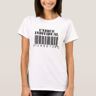 Unique Individual Barcode T-Shirt