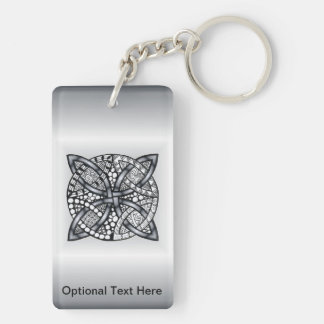 Unique Inspired Celtic Knot Double-Sided Rectangular Acrylic Keychain