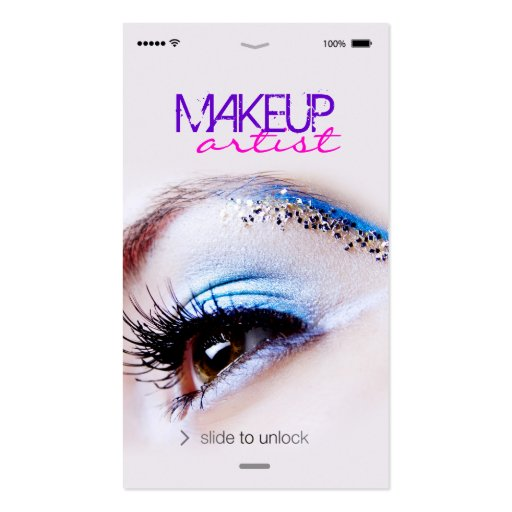 unique iphone ios style eye shadow makeup artist business card    Unique Makeup Artist Business Cards